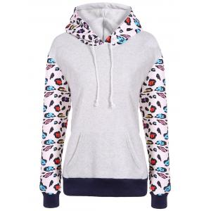 Hooded Leopard Print Sweatshirt