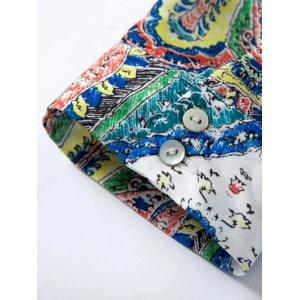 Buttoned Cuffs Printed Top - COLORMIX L