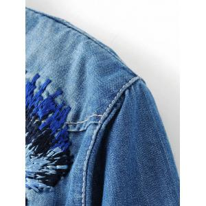 Embroidered Denim Shirt -