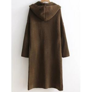 Longline Double Breasted Sweater Coat -