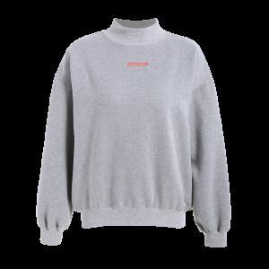 Fleece Pullover Sweatshirt - Gray - One Size