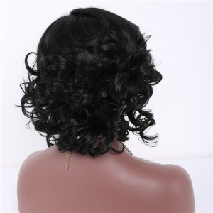 Short Side Parting Curly Heat Resistant Fiber Wig -