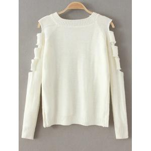 Ripped Cut Out Fitting Sweater -
