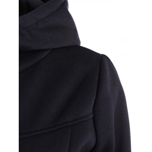 Slimming Pullover Pockets Design Hoodie - BLACK 4XL