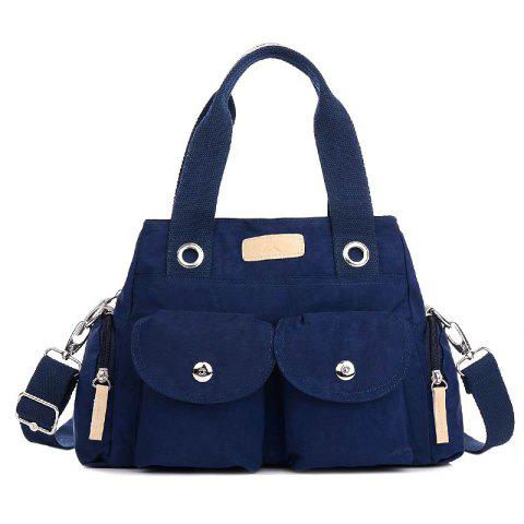 Trendy Pockets Magnetic Closure Zippers Tote Bag