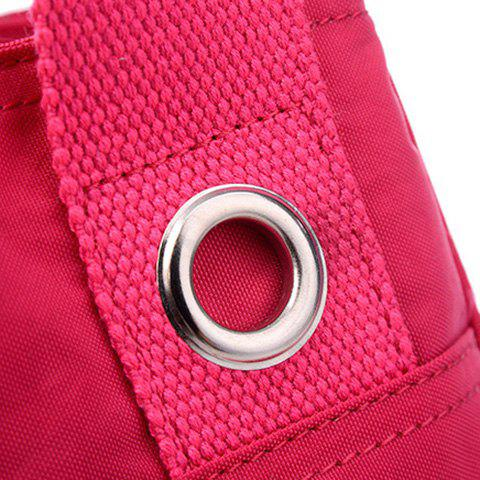 Affordable Pockets Magnetic Closure Zippers Tote Bag - CERISE  Mobile