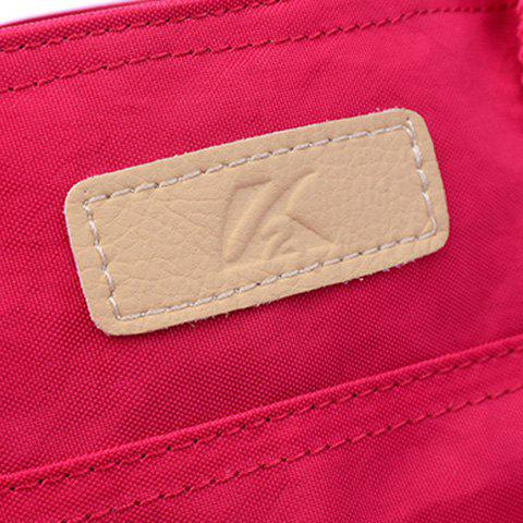 New Pockets Magnetic Closure Zippers Tote Bag - CERISE  Mobile