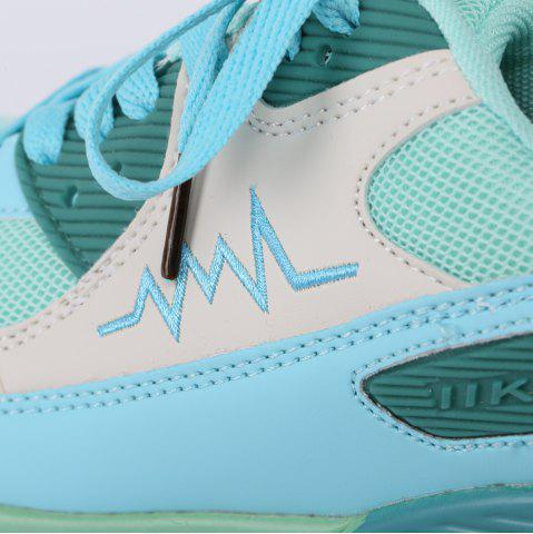 Online Fashion Colour Splicing and Breathable Design Athletic Shoes For Women - 40 LAKE GREEN Mobile
