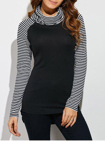 Outfits Cowl Neck Pinstriped T-Shirt STRIPE M