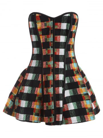 Buy Plaid Underbust Corset