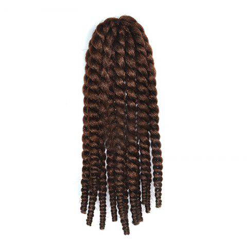 Stylish Long Kanekalon Synthetic Twist Braided Hair Extension - Deep Brown