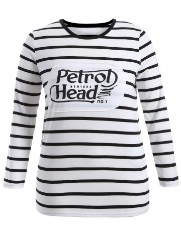 Store Plus Size Graphic Striped T-Shirt