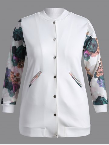 Discount Buttoned Printed Coat