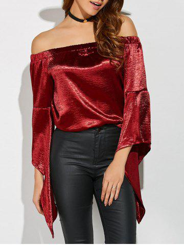 Outfit Off The Shoulder Asymmetrical Blouse