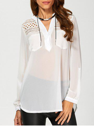 Latest Openwork Chiffon Blouse