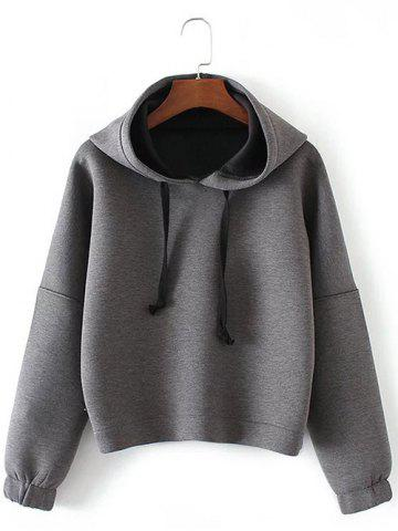 Latest Drop Shoulder Drawstring Pullover Hoodie