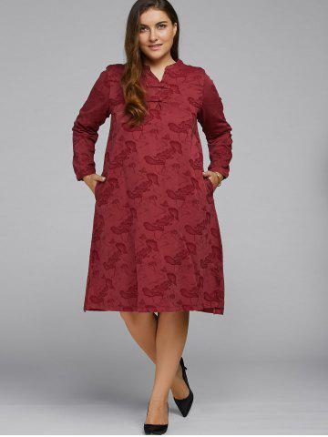 Fashion Jacquard Vintage Midi Dress