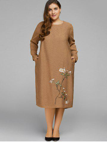 Cheap Plum Embroidered Vintage Dress