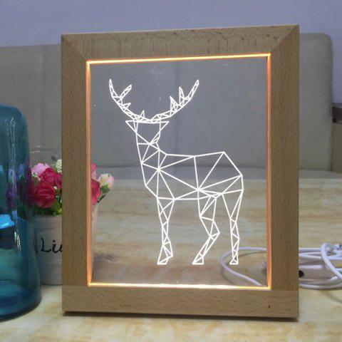 Best USB Wooden Photo Frame Deer Night Light