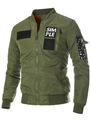 Hot Multi Pocket Patch Zippered Quilted Jacket