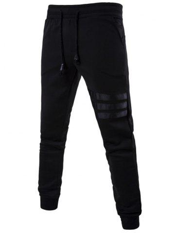 Outfits Mid Rise Drawstring Striped Jogger Pants
