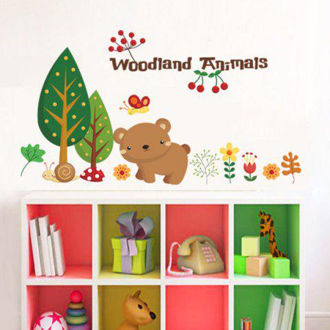 Sale Cartoon Animals Removable Kids Room Wall Stickers