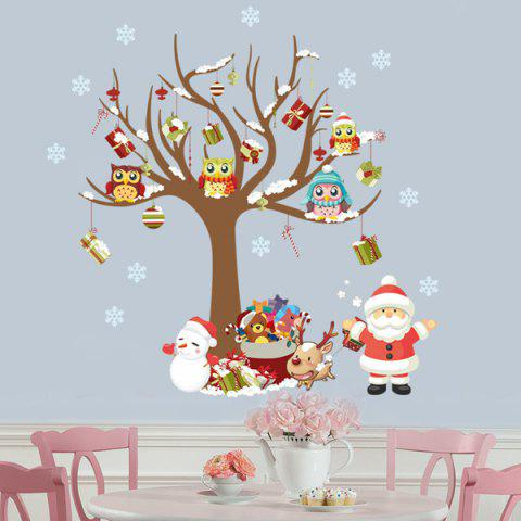 Chic 2PCS Merry Christmas Tree Removable Wall Stickers For Nursery COLORFUL