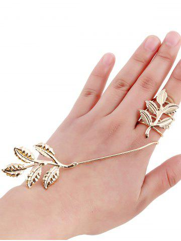 Affordable Gold Plated Spring Leaf Ring