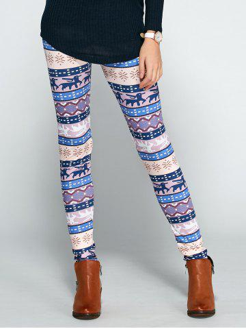 Buy Christmas Ornate Printed Leggings COLORMIX XL