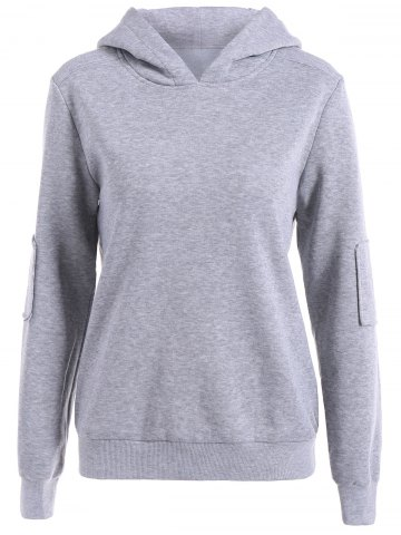 Outfit Elbow Patch Pullover Hoodie