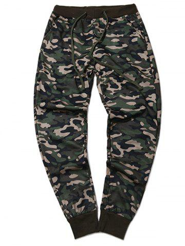 Plus Size Camouflage Beam Feet Jogger Pants - ARMY GREEN 2XL