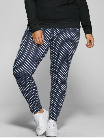 Online Polka Dot Print Plus Size Drawstring Pants