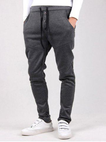 Drawstring Waist Button Embellished Jogger Pants