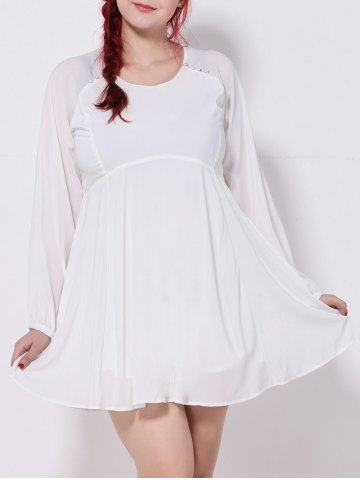 Affordable Plus Size Cut Out Chiffon Swing Dress