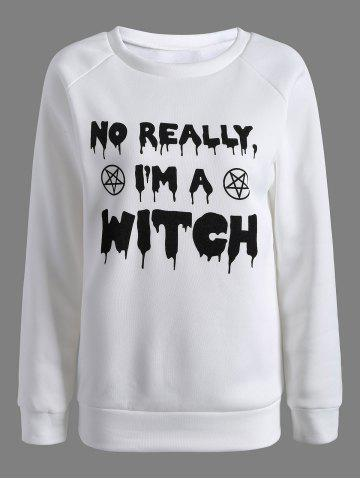 Buy Am Witch Sweatshirt - White L