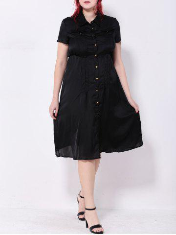 Affordable Pintuck Button Down Dress