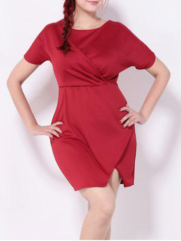 Affordable Ruched Furcal Tulip Dress