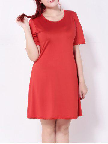 Fashion Short Sleeve A-Line Dress