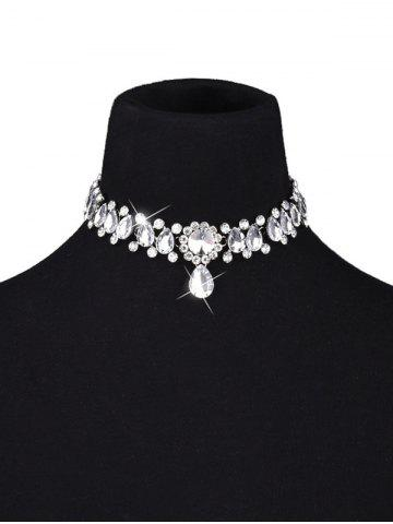 Buy Artificial Crystal Gem Water Drop Choker Necklace