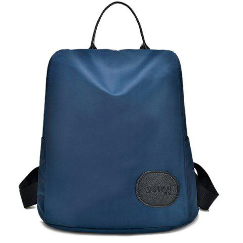 Outfit Nylon Splicing Zipper Backpack PURPLISH BLUE