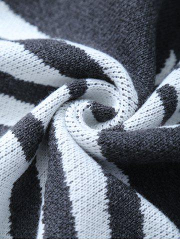 Outfits Super Soft Knitted Fishbone Kids Wrap Halloween Mermaid Blanket and Throws - GREY AND WHITE  Mobile