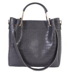 Embossed Dark Colour Metal Tote Bag