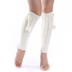 Winter Pompon Bowknot Pendant Hemp Flowers Leg Warmers