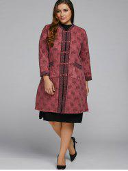 Butterfly Embroidered Cheongsam Duster Coat -