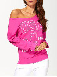 The USA Print Pullover Sweatshirt