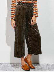 Pleated Ankle Wide Leg Palazzo Pants -