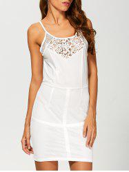 Mesh Crochet Bodycon Tank Dress