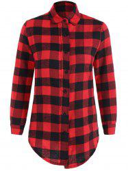 Fitted Scottish Checked Shirt -