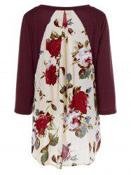 Floral Print Layered Blouse -