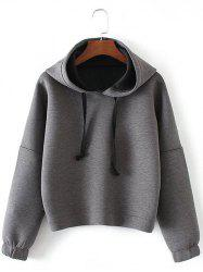 Drop Shoulder Drawstring Pullover Hoodie -
